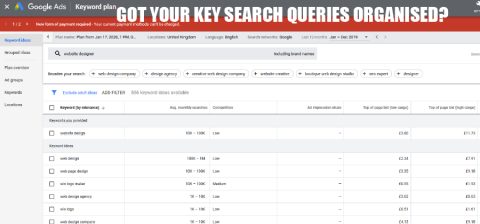 Key Search Queries and online seo campaign
