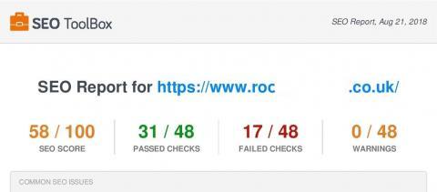 Catchy web design seo checker