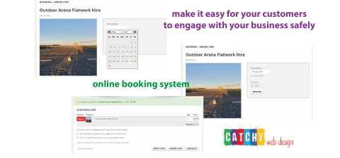 website booking system by Catchy web design in Warrington