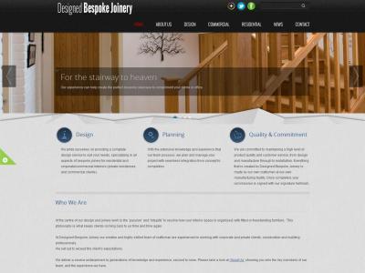 starter website for Designed Bespoke Joinery