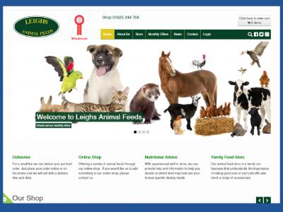 Leighs Animal Feeds Shopping website